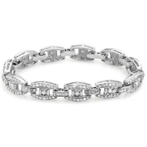 14k white gold ladies bracelet