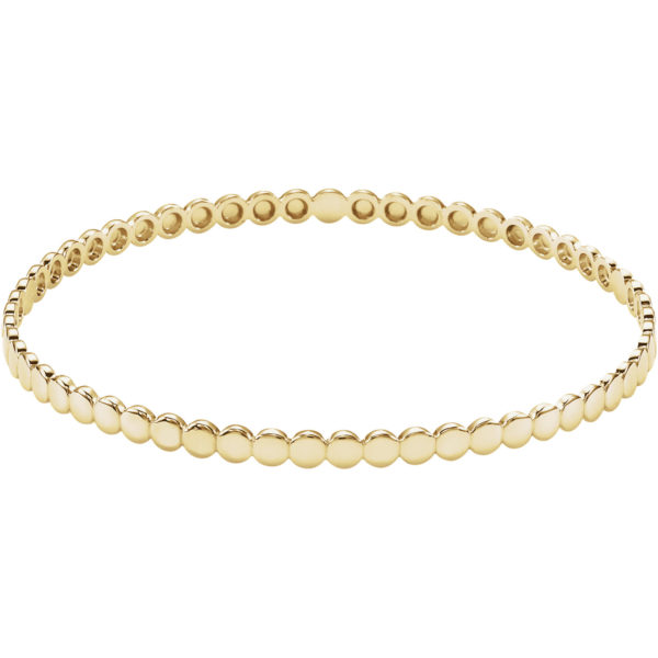 14kt yellow gold beaded bangle bracelet