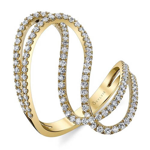 Free Form Diamond Fashion Ring
