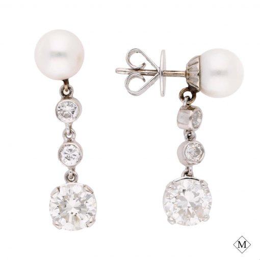 classic diamond earrings style #: md-ear10001