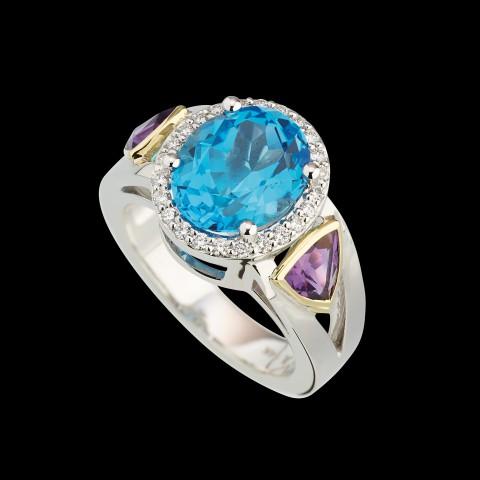 galaxy gemstone ring