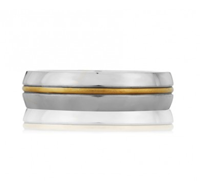 Center striped classic men's ring