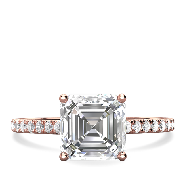 Charlotte asscher cut engagement ring