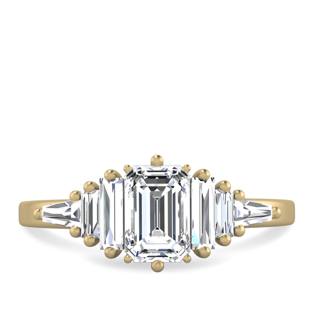 Harriet emerald cut engagement ring