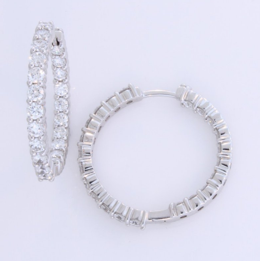Payne anthony jewelers diamond hoop earrings by roberto coin