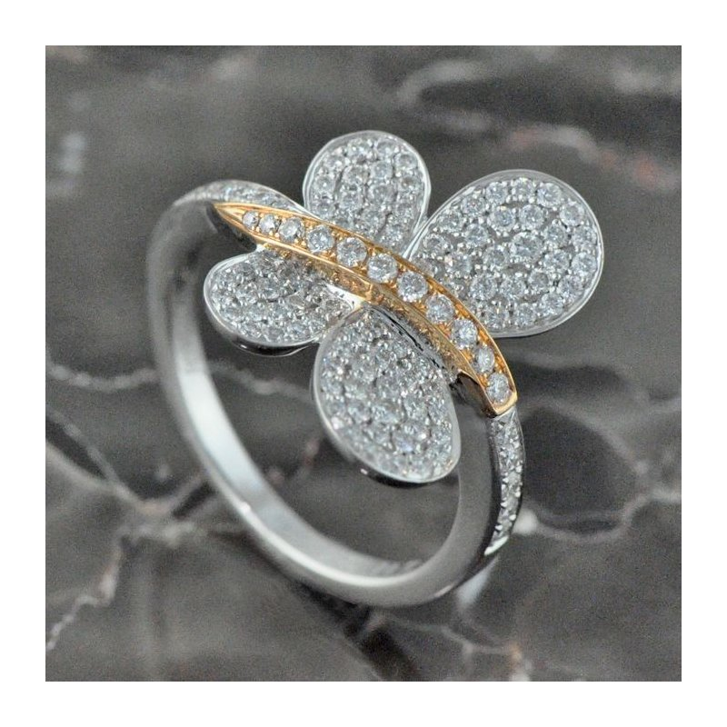 simon g pave butterfly ring