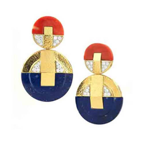 Disk Earrings, Colors Collection