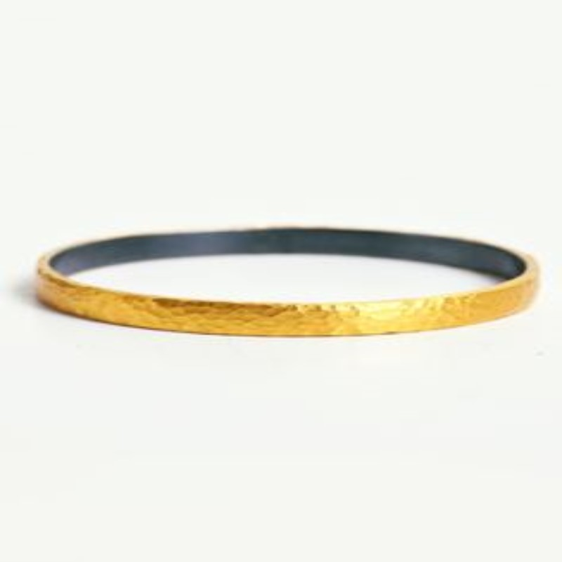 4mm 24k & sterling fusion bangle
