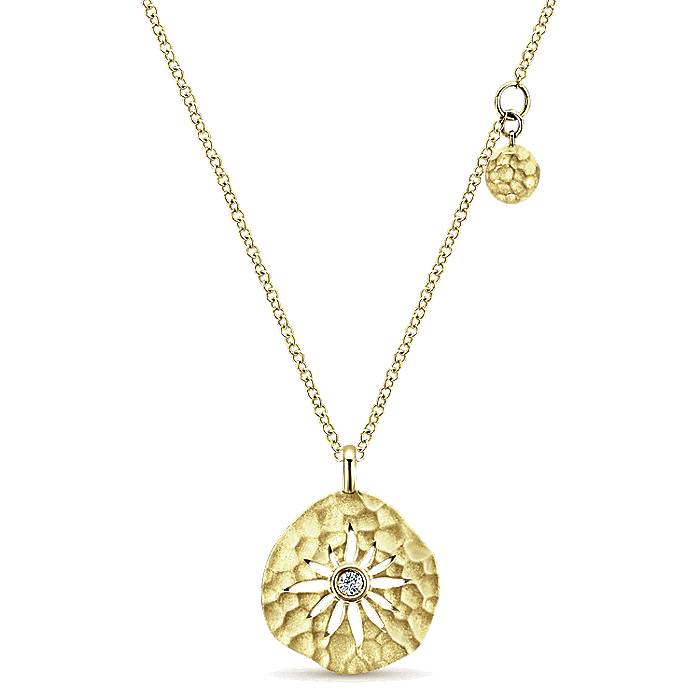 14k gold dia necklace