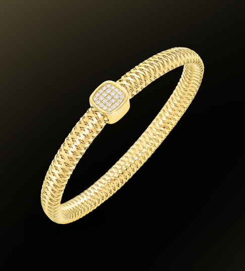 Roberto coin flexible bangle with diamonds