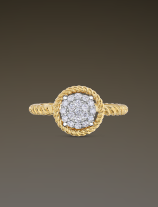 Roberto coin pave circle ring