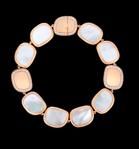 Roberto coin bracelet with mother of pearl and diamonds