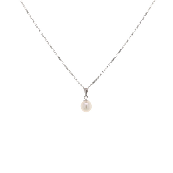 freshwater pearl & sterling silver pendant necklace