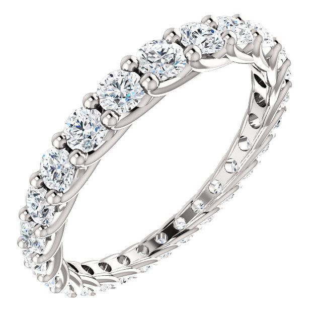 14k white 1 1/3 ctw diamond graduated eternity band