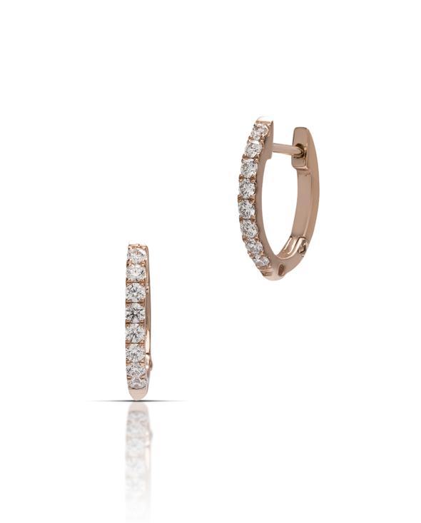 mini diamond hoops