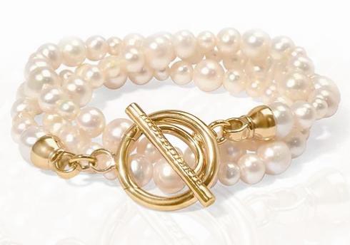 pearl wrap bracelet by nikki lissoni