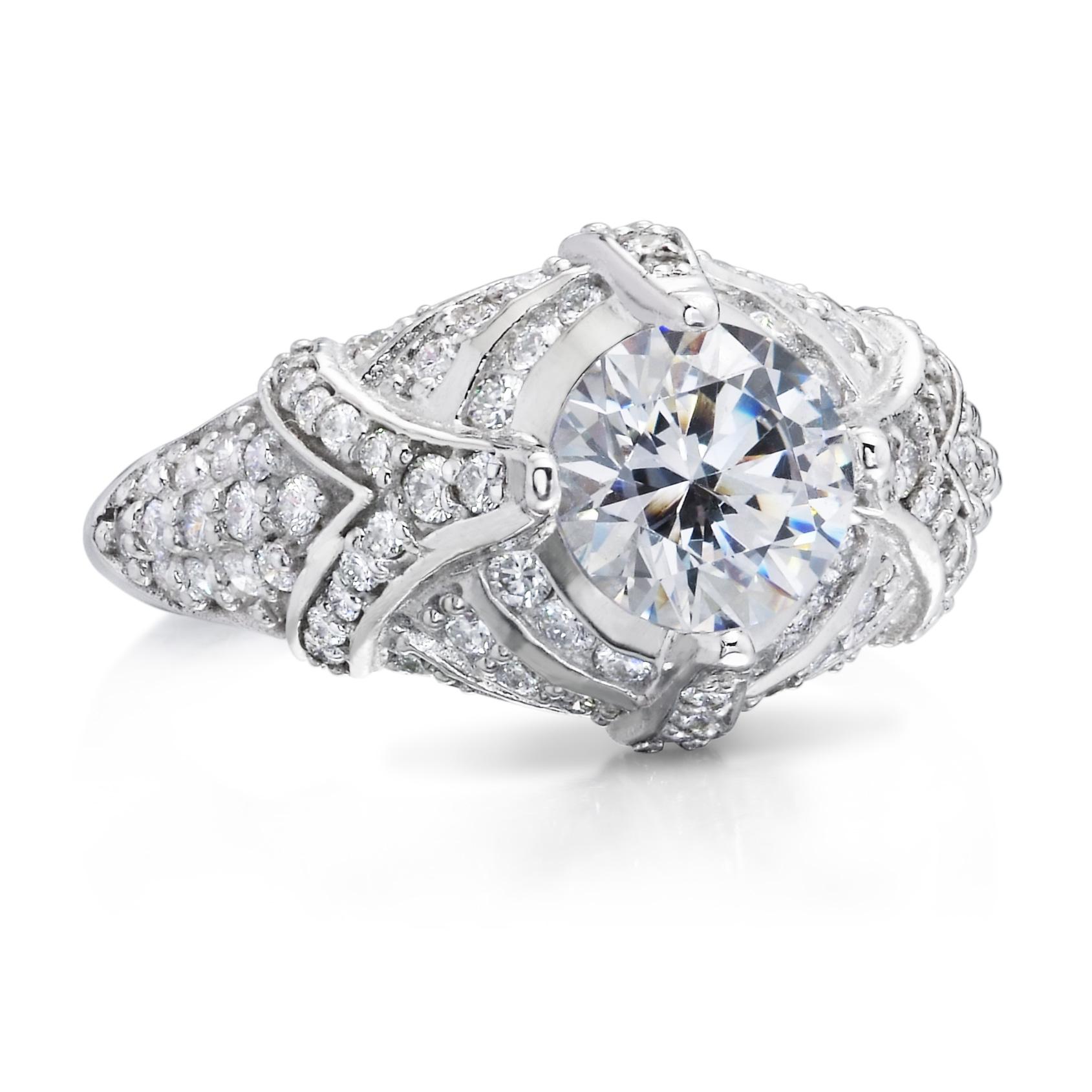 antique reproduction solitaire diamond ring