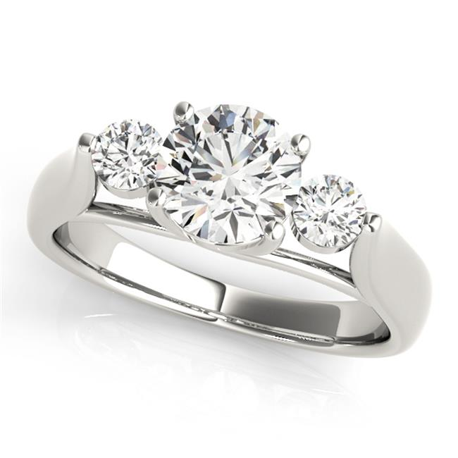 engagement rings 3 stone round