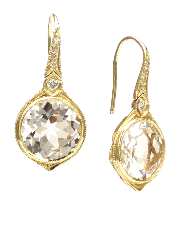 Safiya white topaz earrings
