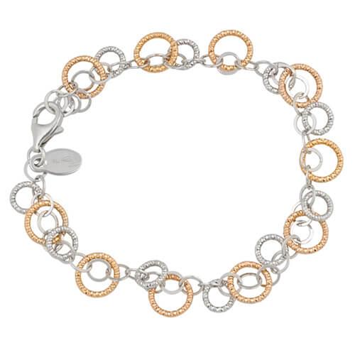 sterling silver rose sparkle ring bracelet