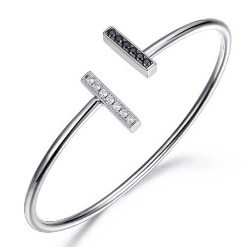 sterling silver rhodium plated cuff