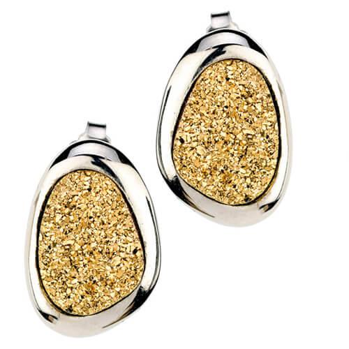 sterling silver gold drusy wanda earrings