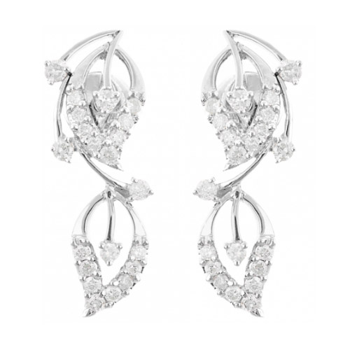 Diamond Earring Set in 14k White Go...