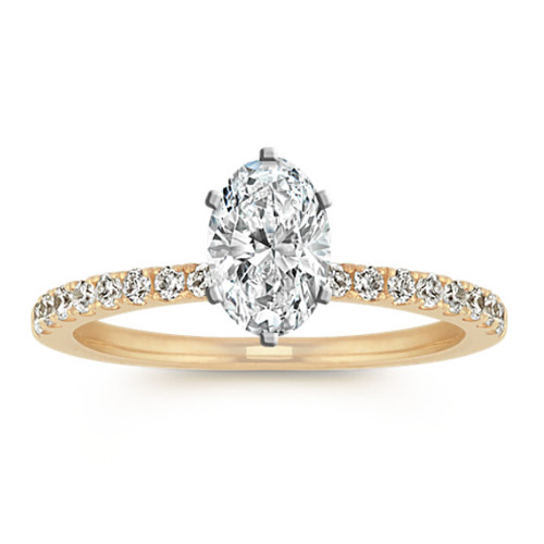 Diamond Engagement Ring with Pav Se...