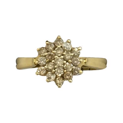 diamond flower cluster ring
