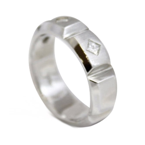 men's platinum with diamonds band ring