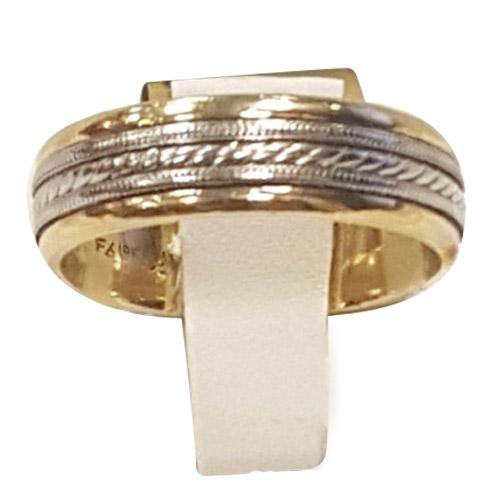 men's 18k and platinum band ring