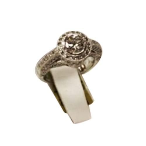 ladies' statement platinum ring