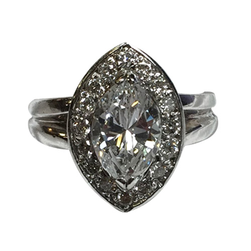 ladies marquise 1 carat diamond ring