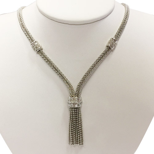 custom lariat style 18kt necklace
