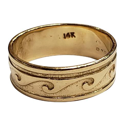 14k men's yellow gold band