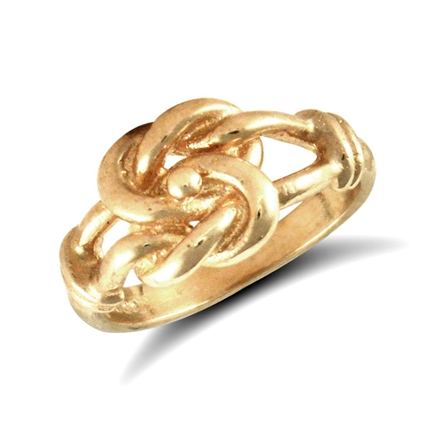 9ct yellow gold baby knot ring
