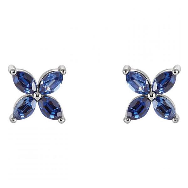 floral sapphire stud earrings