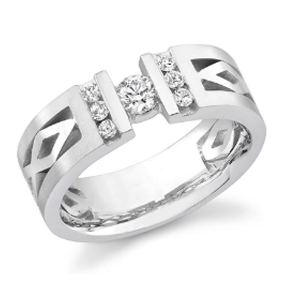 gentlemen's diamond modern ring #3