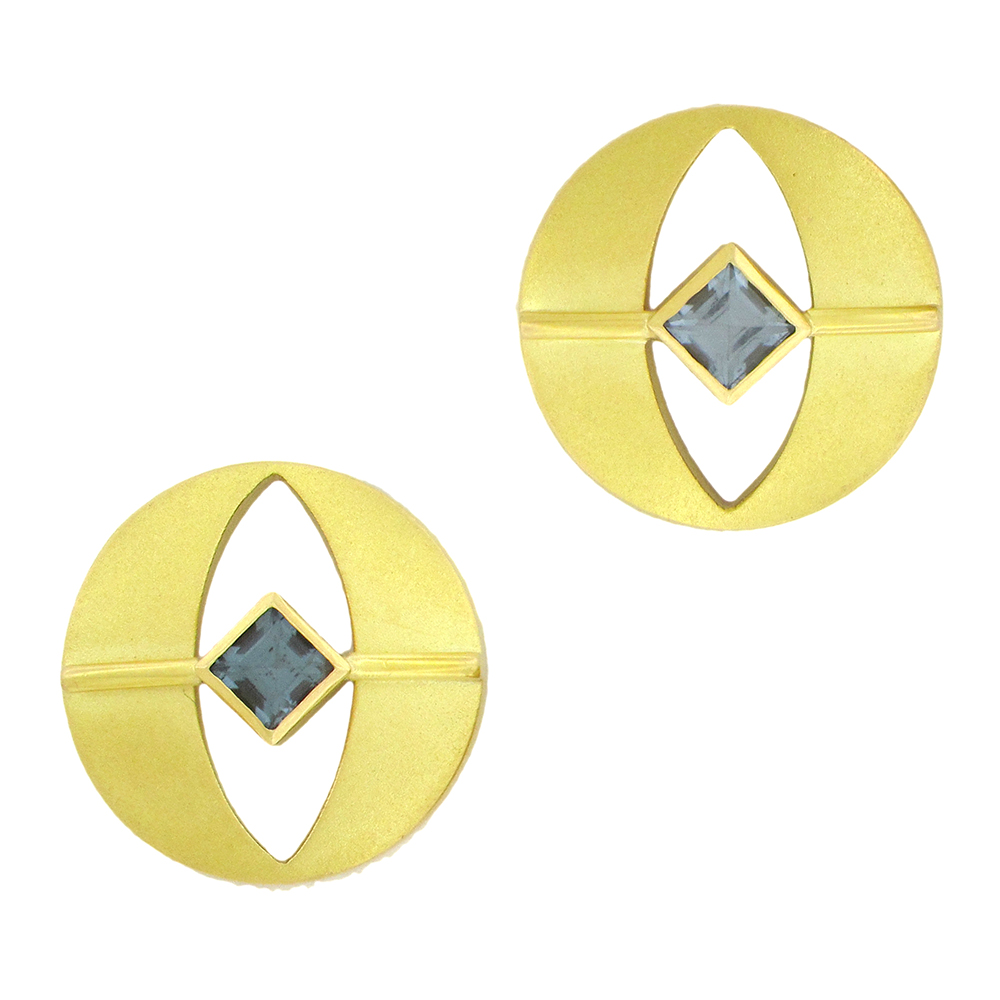 JANIS KERMAN BLUE SPINEL EARRINGS